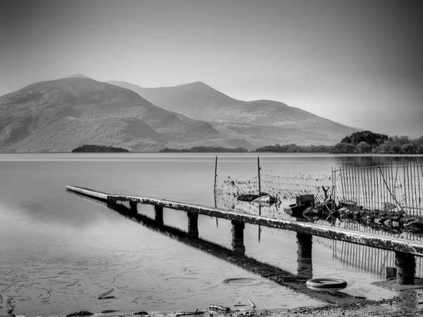 Lough-Leane-Killarney-long-exposure-photo-black-and-white-landscape-photo