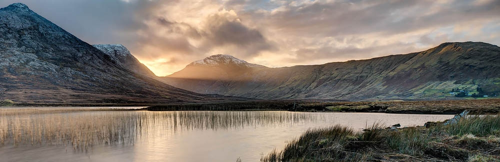 sunset photo Lough Inagh connemara county galway