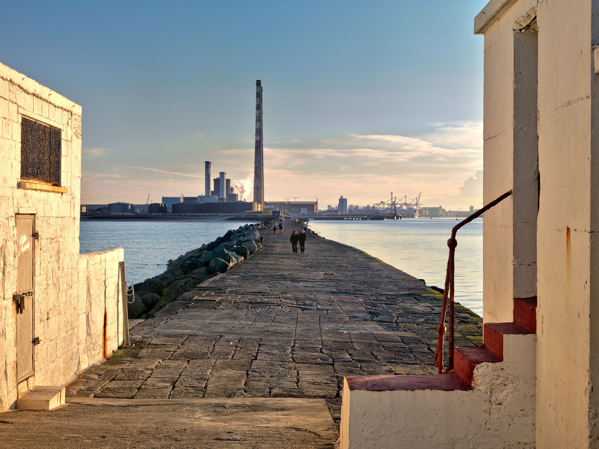 South Wall Ringsend Poolbeg power station Dublin