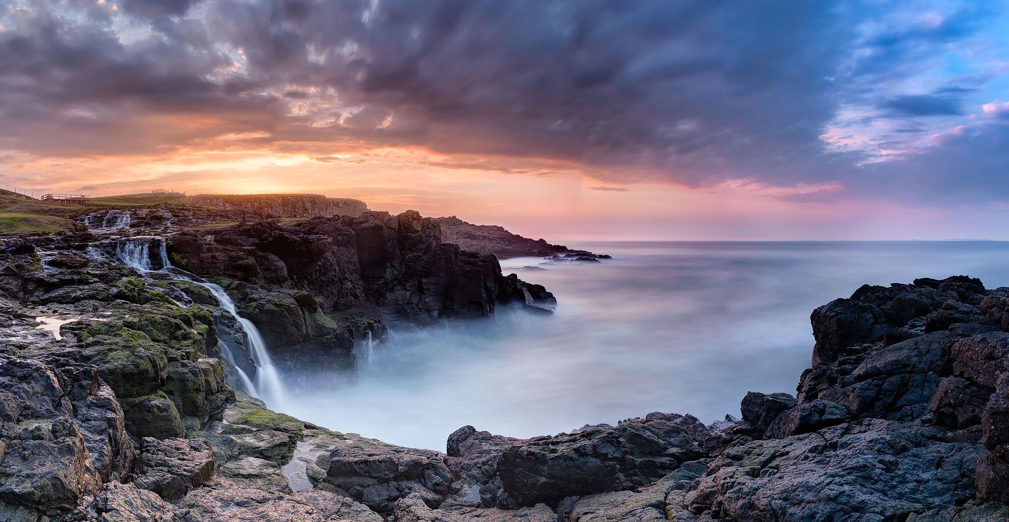 Dunsverick Waterfall County Antrim