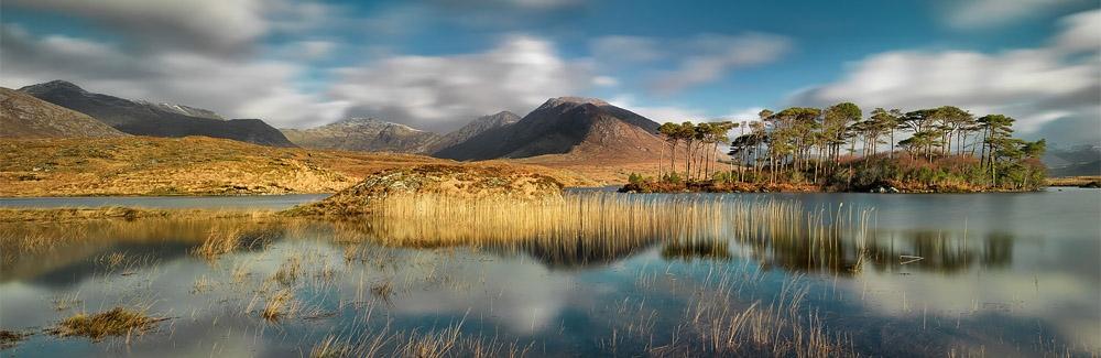 derryclare lough connemara landscape photo galway