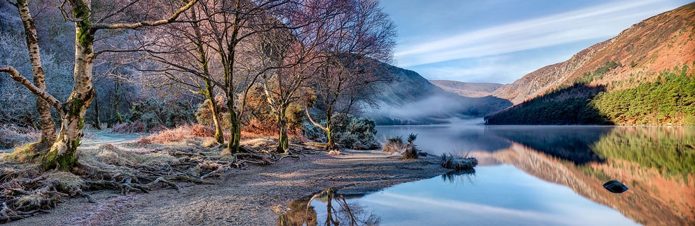 Glendalough upper Lake wicklow mountains