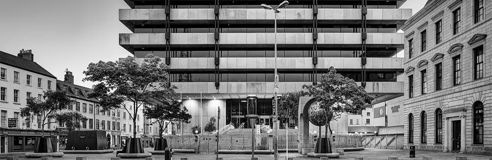 urban photography old Irish Central Bank