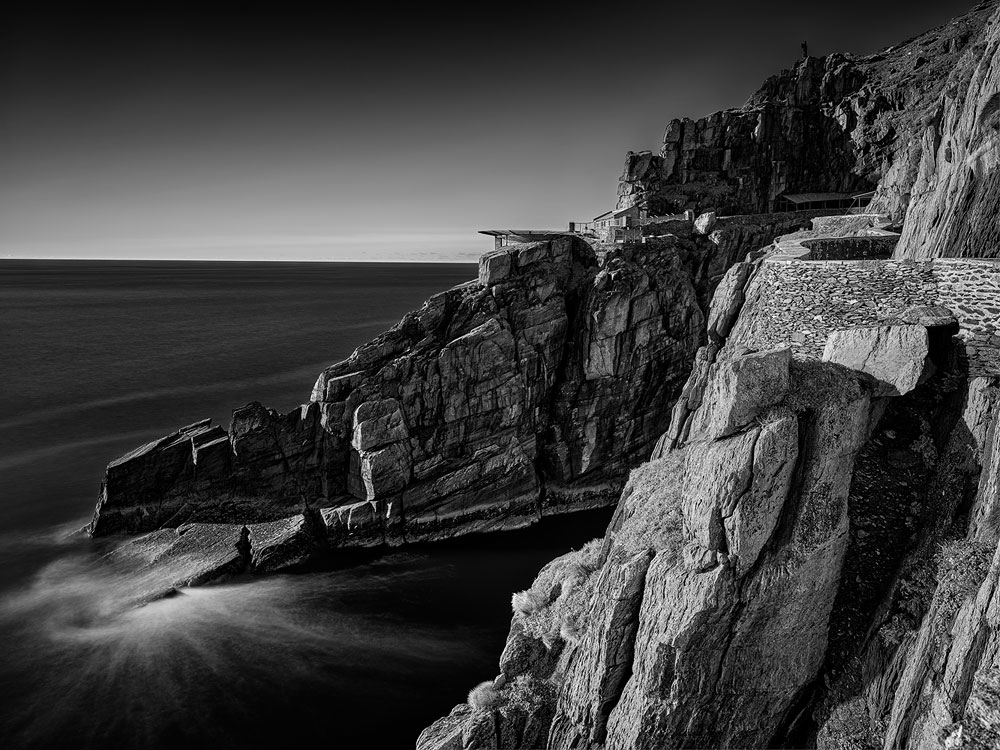 black and white, Skellig Seascape photo