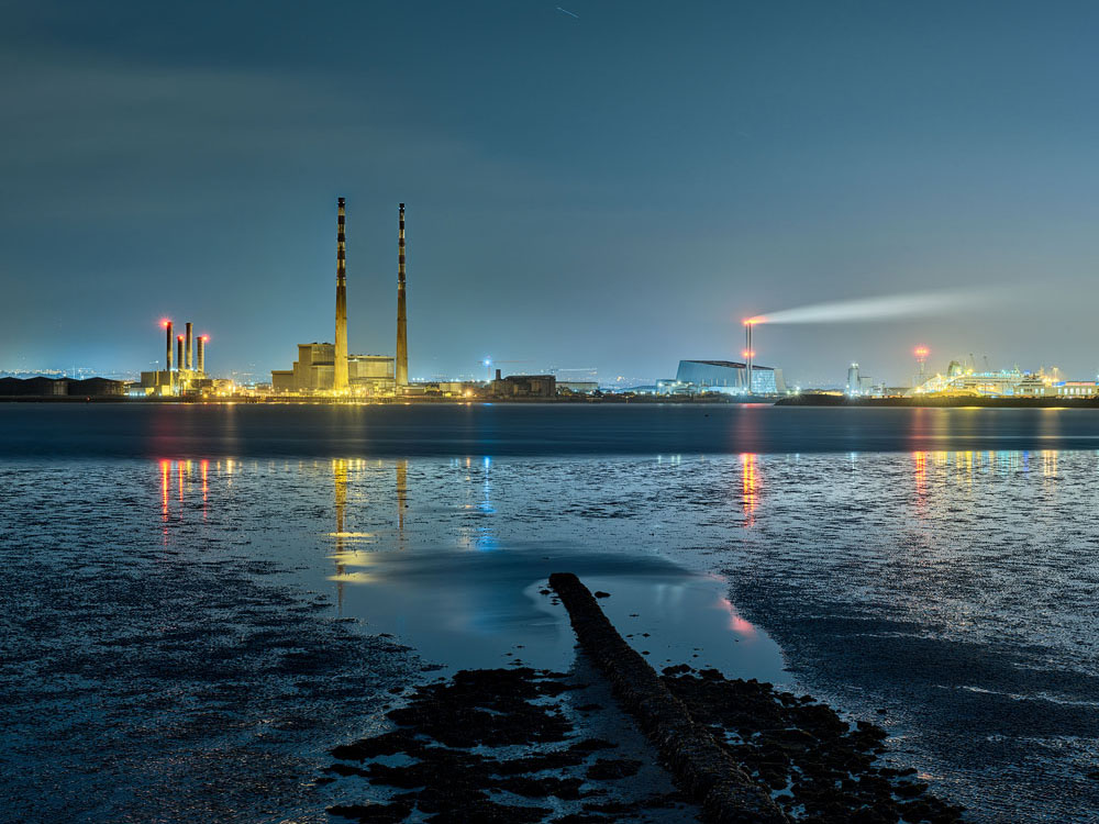 Bull Wall on Dollymount strand. Gateway to a Dublin nightscape.