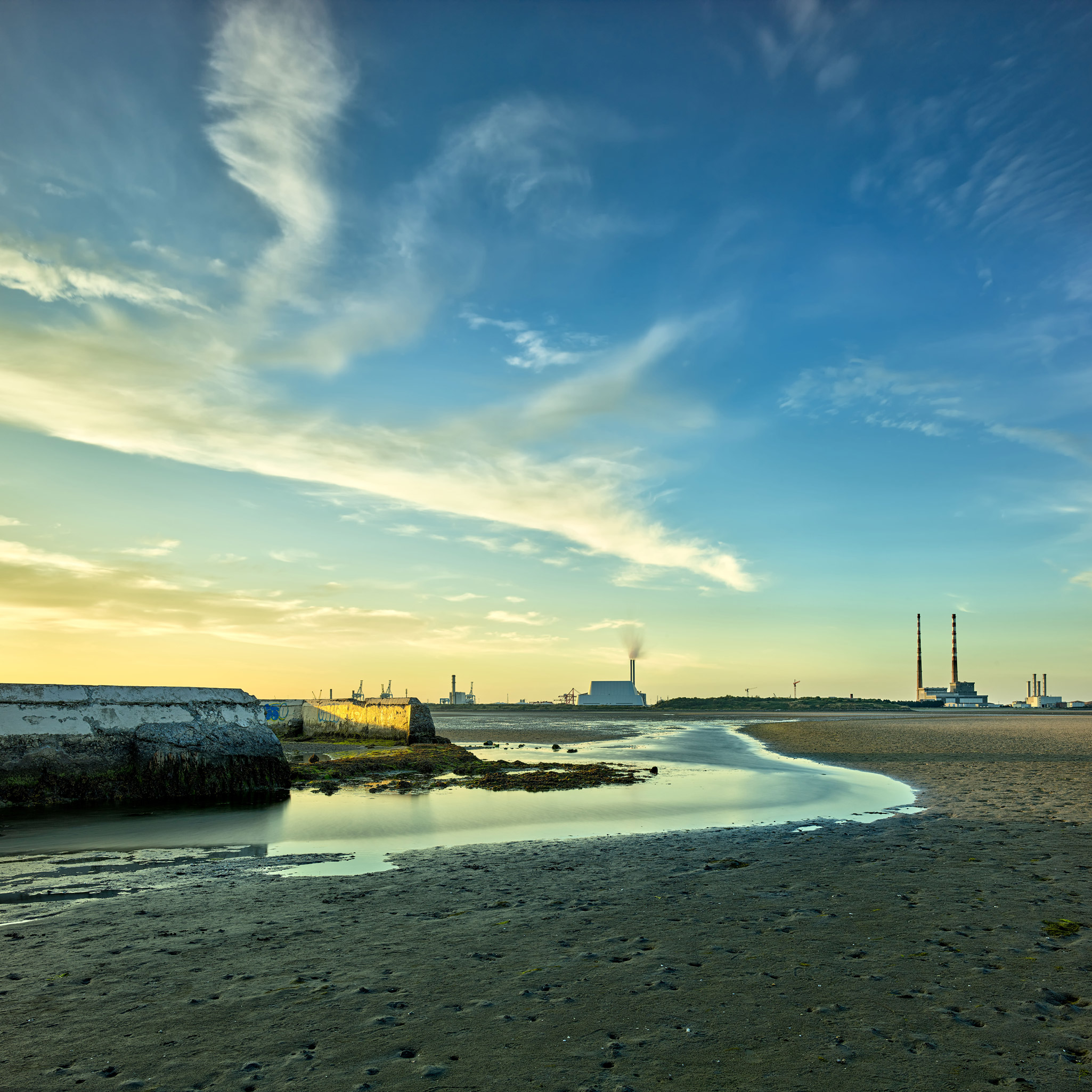 Sandymount Strand Baths, dublin bay sunset