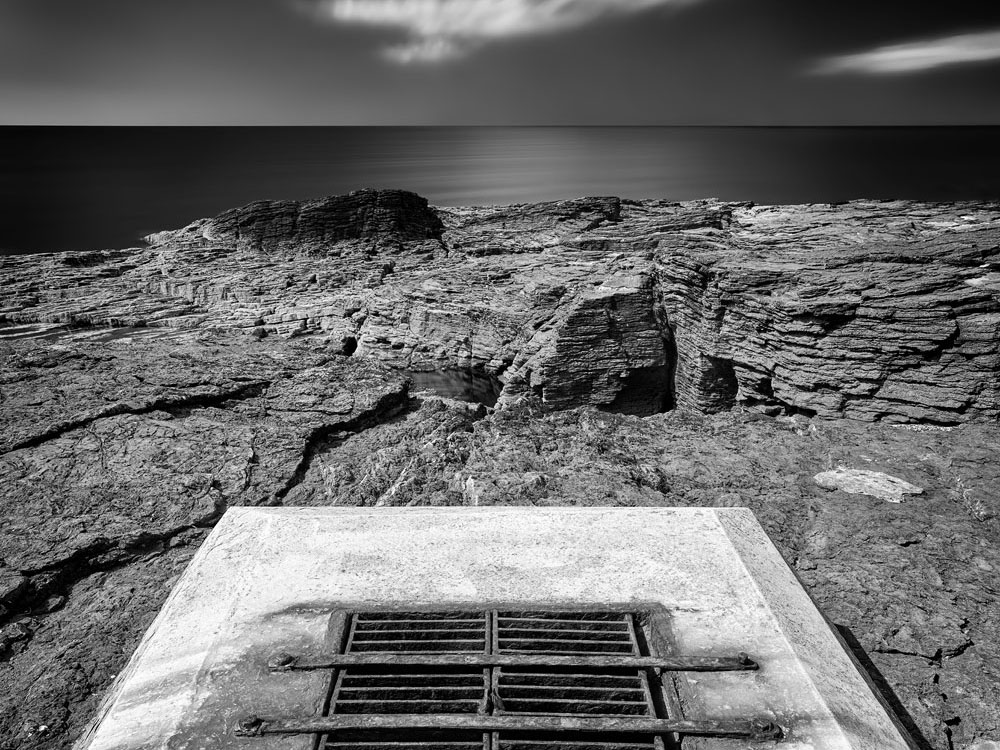 A concrete and steel structure at Hook Lighthouse on the Wexford Coast, Ireland