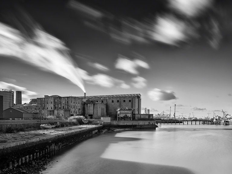Black and White image of Pigeon House Power Station